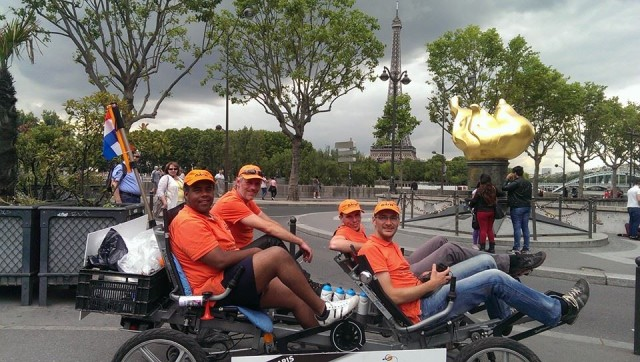 De fietstocht naar Parijs